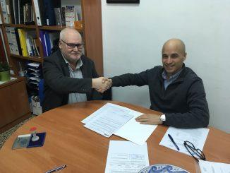 Firma Convenio FCTs CPIFP Bajo Aragón y Motorland